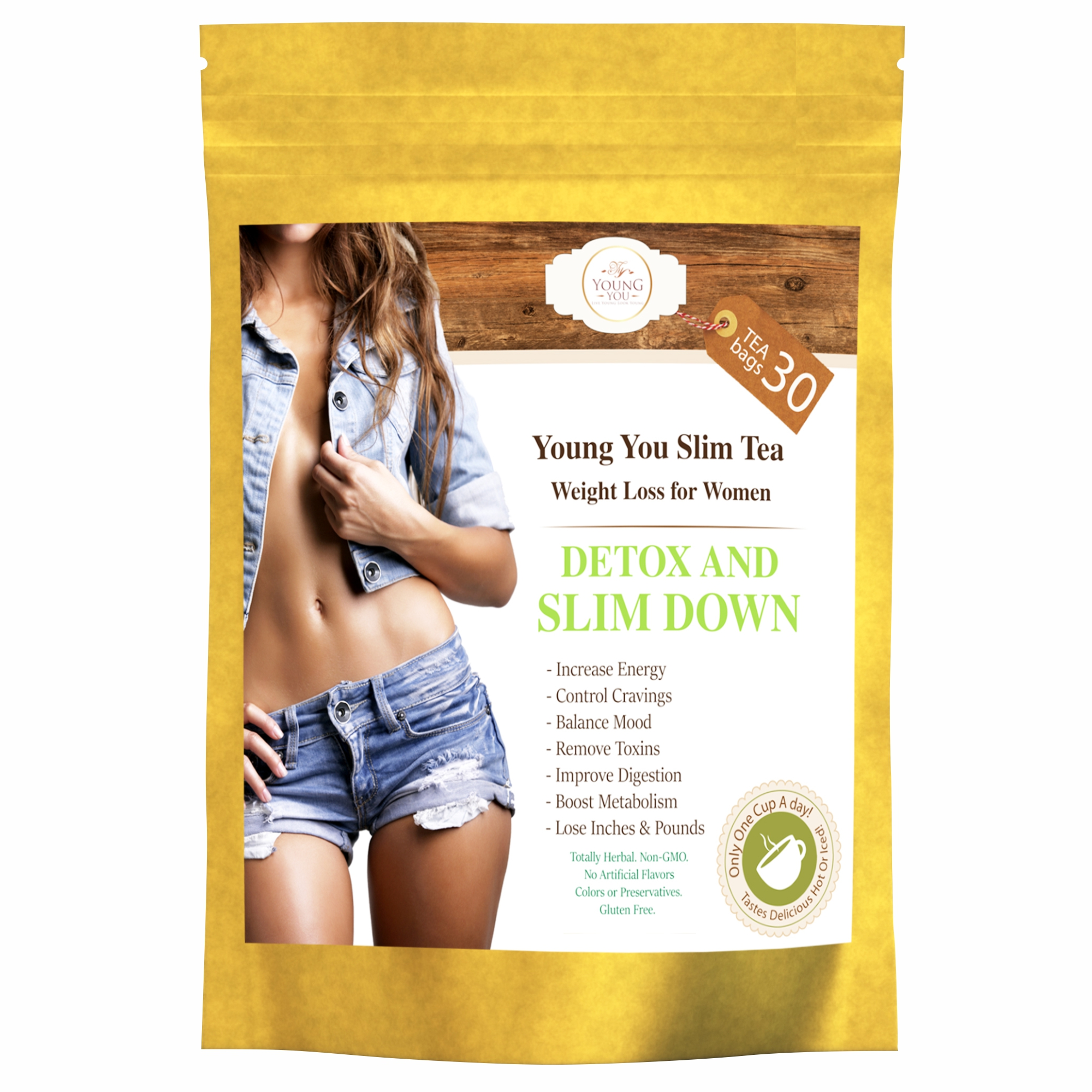Youngyou Slim Tea Wight Loss For Women 30 Tea Bags
