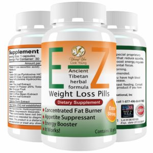 YoungYou Organix E-Z Weight Loss Pills. Double Strength Herbal Appetite Suppressant and Fat Burner