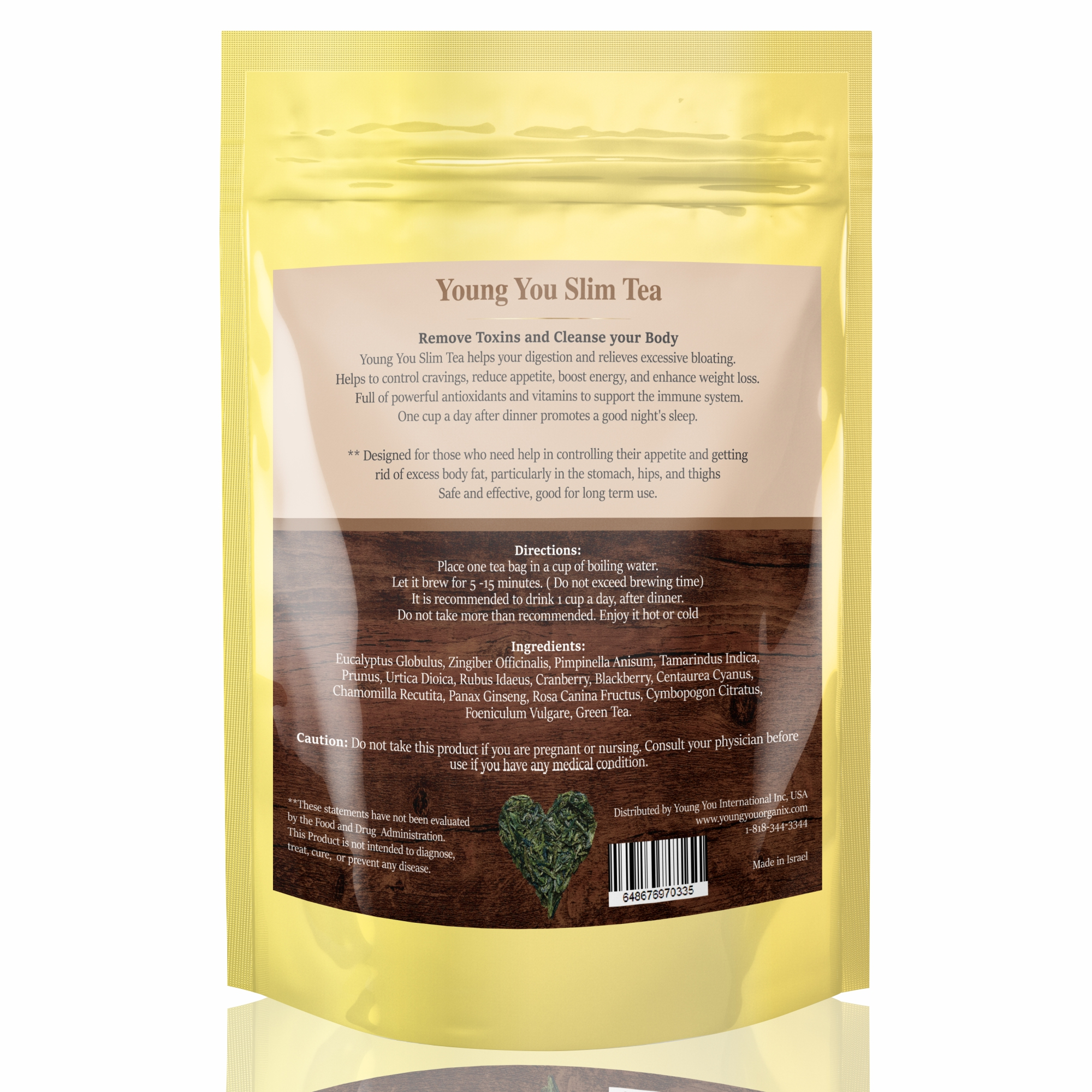 7-Day Weight Loss Tea. Belly Detox and Cleanse