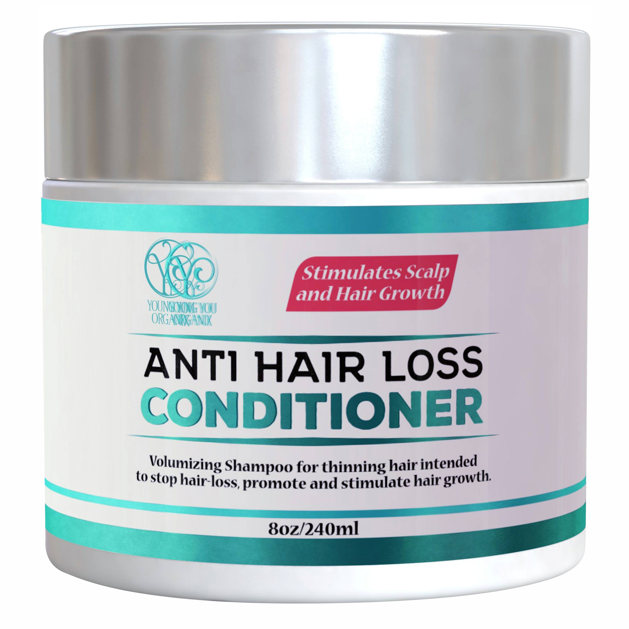 YoungYou Organix HAIR REGROWTH DEEP CONDITIONER FOR THINNING HAIR. SULFATE FREE.