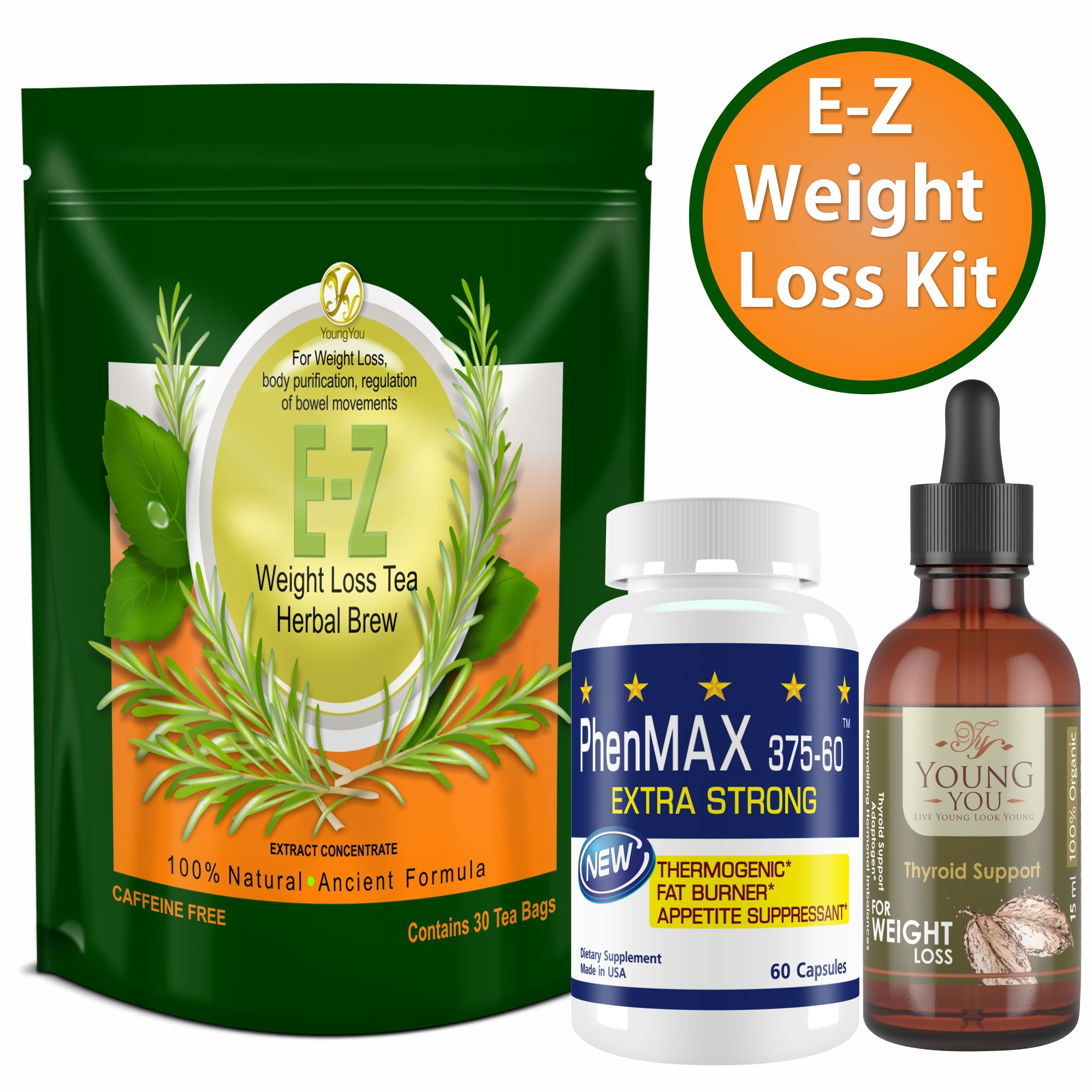 YoungYou Organix Weight Loss Pills, Weight Loss Tea and Thyroid Support